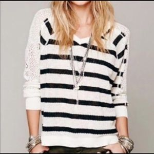FREE PEOPLE M Striped Sweater Lightweight